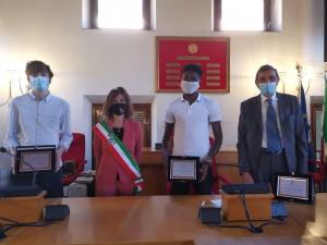 Cerimonia in memoria di Christin Kamdem Tadjoudje presso il Comune di San Giuliano Terme